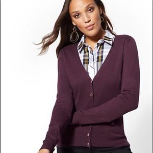 NY&CO Jeweled V-Neck Chelsea Cardigan 7th Avenue